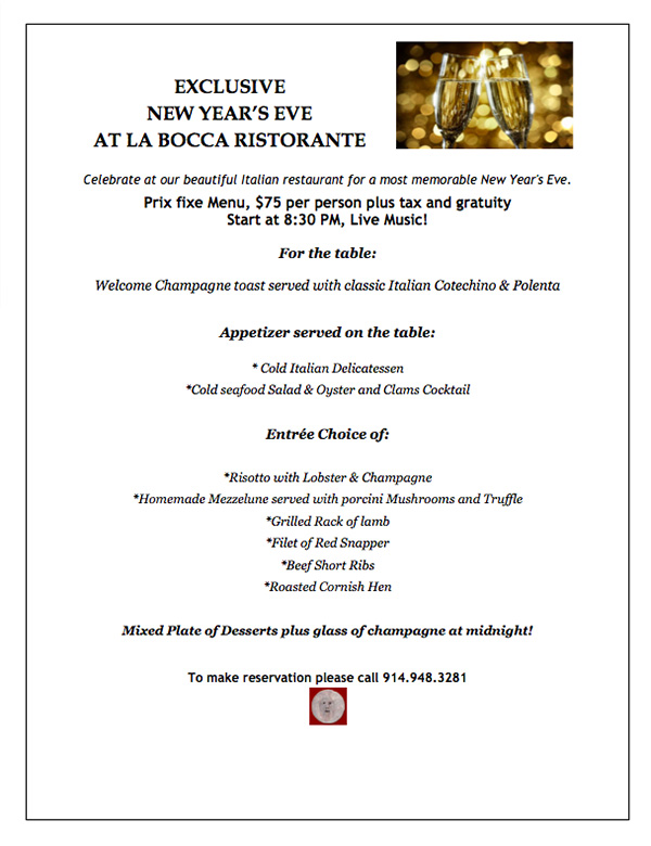 italian new years eve menu restaurant